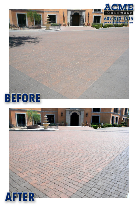 paver powerwashing before and after phoenix